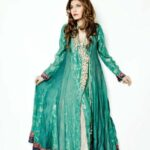 umsha by uzma babar long Frock latest party wear for women