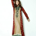 umsha by uzma babar long shirt latest party wear for women