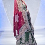 wedding lehengas by Sara Rohale Asghar wedding dress at Pakistan Fashion Week London 2012 Day 1