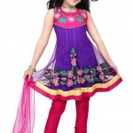 Kids Anarkali frock Summer Eid Wear collection 2012