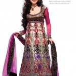 Latest Bridal wear Embroidered Anarkali Frocks Collection 2012