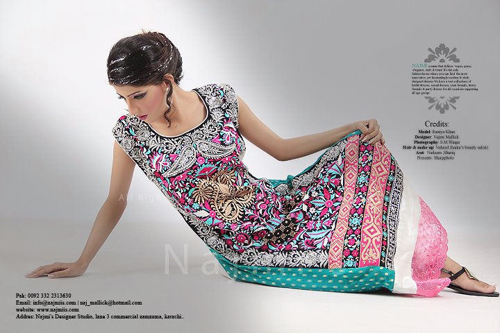 Latest Eid Dresses 2012 For Women By Najmi's