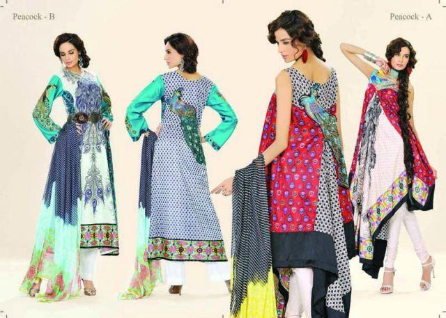 Latest Vintage Eid Lawn Collection 2012 For Women by Lala Textiles