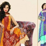 Latest Vintage Eid Lawn dress Collection 2012 For Women by Lala Textiles