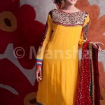 Latest summer Embroidered Dress Collection Eid 2012 for women by Mansha Boutique