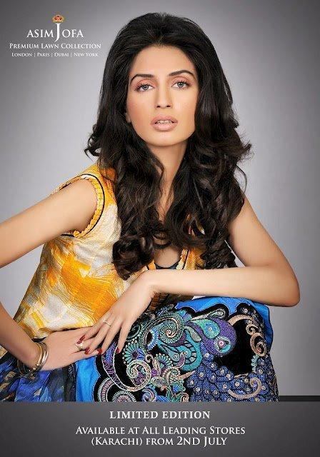 Limited Edition Lawn Collection 2012 By Designer Asim Jofa