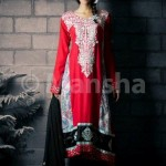 Mansha Boutique Latest Embroidered Salwar Suit Collection Eid 2012 for women