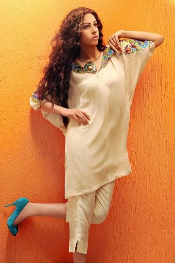 Shirin Hassan Eid Collection 2012 Silk Long Shirts, Tunics (7)