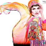 Vogue Embroidered Silk Eid Dress Collection 2012 by Five Star Textile