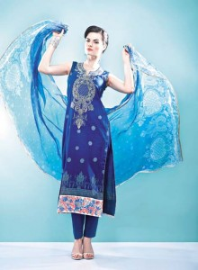 Vogue Embroidered Silk Eid Dress Collection 2012 by Five Star Textile (6)