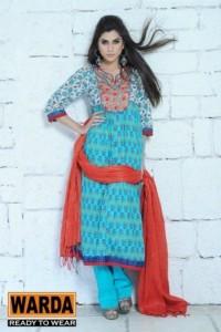 Warda Designers Stylish Ready To Wear Eid Collection 2012 for Women (2)