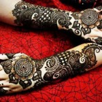 Colorful & Beautiful Eid hand Mehndi Designs 2012 for Girls and Women (8)