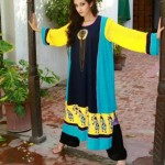 Latest Eid Mid summer Dresses Collection 2012 For Women By Qimash (4)