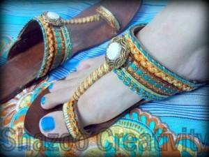 Latest Kolhapuri Eid Footwear Collection 2012 By Shazoo Creativity 002