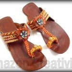Latest Kolhapuri Eid Footwear Collection 2012 By Shazoo Creativity