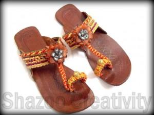 Latest Kolhapuri Eid Footwear Collection 2012 By Shazoo Creativity