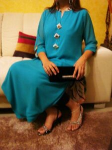 Turquoise Latest stylish Eid Dresses 2012-2013