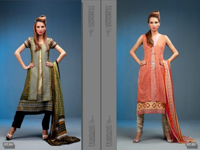 Beautiful Embroidered Dress Collection 2012 Feminine Designer By Shariq Textiles (10)