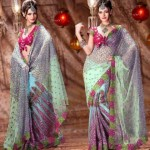 Bridal wear Lehenga type Saree collection 2012