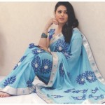 Dazzling Blue Pure Chiffon Saree Exclusive Pure Classic By Designer Cotton Dress materials