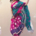 Dual Shaded Half And Half Saree Exclusive Pure Classic By Designer Cotton Dress materials