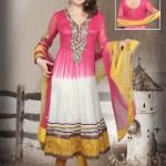 Dual Shaded Net Anarkali Suit 2012