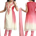 Dual Shaded Pure Georgette Churidar Suit 2012