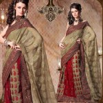 Embroidered Lehenga type Saree collection 2012