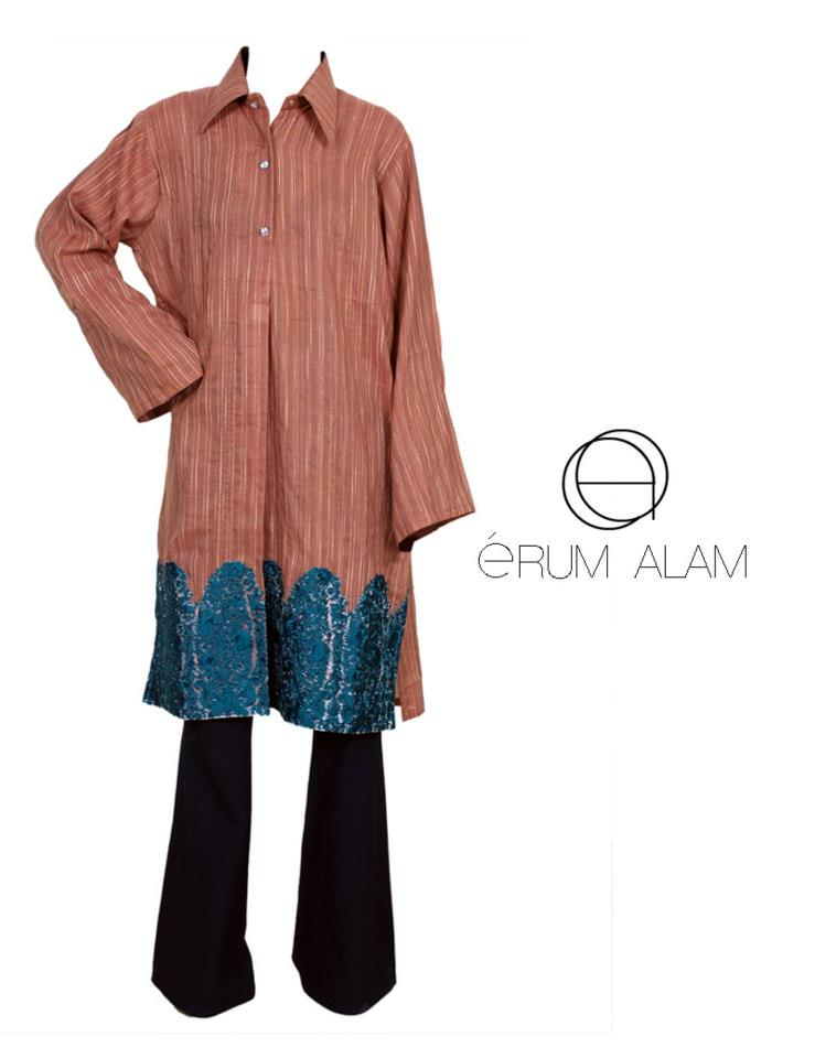 Erum Alam Latest Cotton kurtis Collection 2012-13 for Girls 006