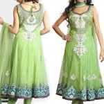 Fancy Embellished Net Long Anarkali Suit 2012