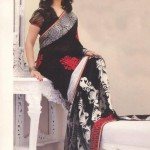 Grandiose Black Half And Half Saree Exclusive Pure Classic By Designer Cotton Dress materials