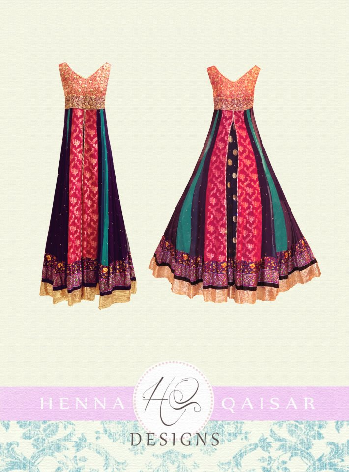 HQ Designs Formal Wear Dress Collection 2012-13 for Girls 007