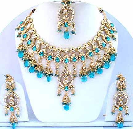 Indian Bridal Kundan Jewellery Set 009