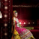 Kosain Kazmi Beautiful Kamdani Bridal Wear Dress Collection 2012 for women (4)