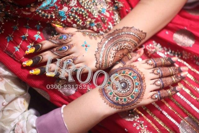 Latest Bridal Mehndi Designs 2012-13 By Uroos Mehndi (3)