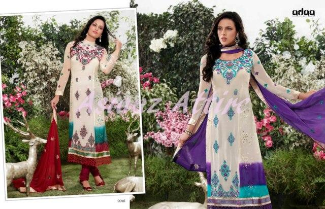 Latest Colorful casual wear Collection 2012-13 For Girls Adaa by Asianz Attire (2)