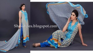 Latest Pakistani Lawn Collection 2012-13 Summer Dress Designs 003