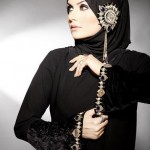 Latest abaya with belt Fashion Trend 2012