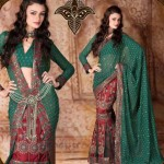 Lehenga type Saree collection 2012