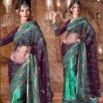 Lehenga type Saree designs