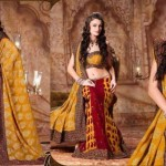Lehenga type Saree fashion trend 2012