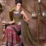 Lehenga type Saree for wedding 2012