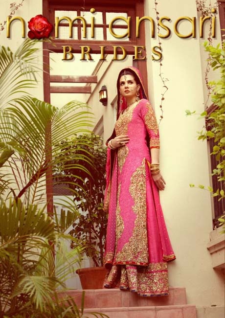 Mahnoor Baloch Come in Beautiful Coral Bridal Outfit by Nomi Ansari