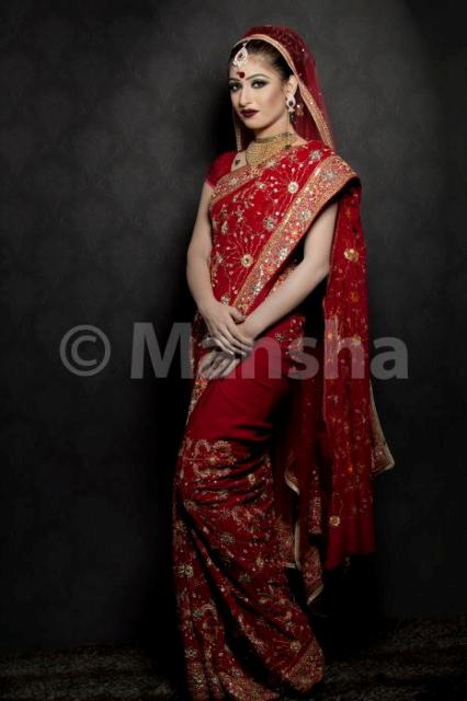 Mansha Bridal Lehenga Wedding Saree Frocks Dress Collection 2012-13 For Women 009
