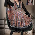 Multicolored Cotton Printed Anarkali Suit 2012