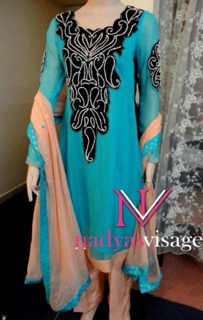 Nadya Visage Latest Party Wear Dress Collection 2012 For Ladies