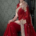 Nakshatra Designerwear Latest & Beautiful Bridal Saree Collection 2012-2013 (9)
