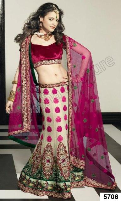 Natasha Couture 3 Pieces Bridal Lehenga Choli 2012-13 Collection (5)