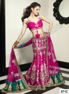 Natasha Couture 3 Pieces Bridal Lehenga Choli dress 2012-13 Collection (1)