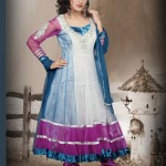 Rich Net Long Anarkali Suit 2012